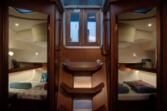 Marlin Aft Cabins (Bavaria 46 Style Cruiser Stock Photo )