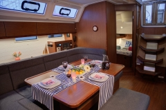 Marlin Salon (Bavaria 46 Style Cruiser Stock Photo )