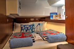 Marlin Aft Cabin (Bavaria 46 Style Cruiser Stock Photo )